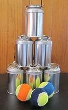 Knock'em Down Carnival County Fair Baseball Miniature Metal Milk Can Bottle Game