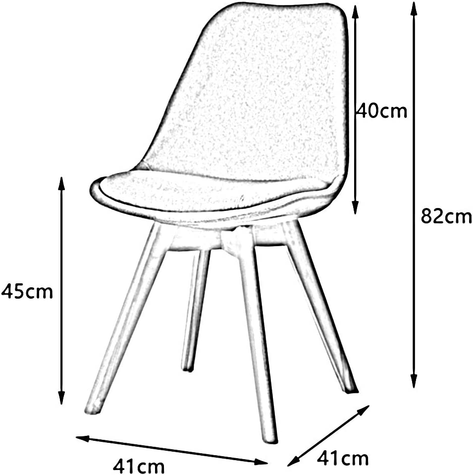 WGXX Home Nordic Chaise de Salle à Manger en Bois Massif Style Minimaliste Moderne Ecru