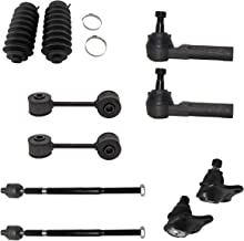 10pc Front Inner Outer Tie Rods - Steering Rack Boots - Lower Ball Joints & Sway Bar Links - For 99-05 VW Jetta - [99-06 Golf] - 98-10 VW Beetle - CHECK Bullet Point Notes on Listing