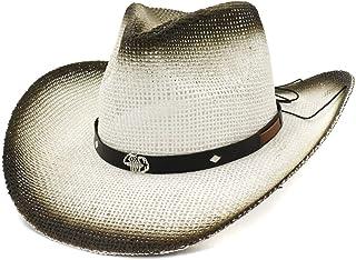 SHENTIANWEI New Western Paint Cowboy Hat National Wind Straw Hat Female Outdoor Seaside Sun Hat Metal Silver Scorpion Sun Hat