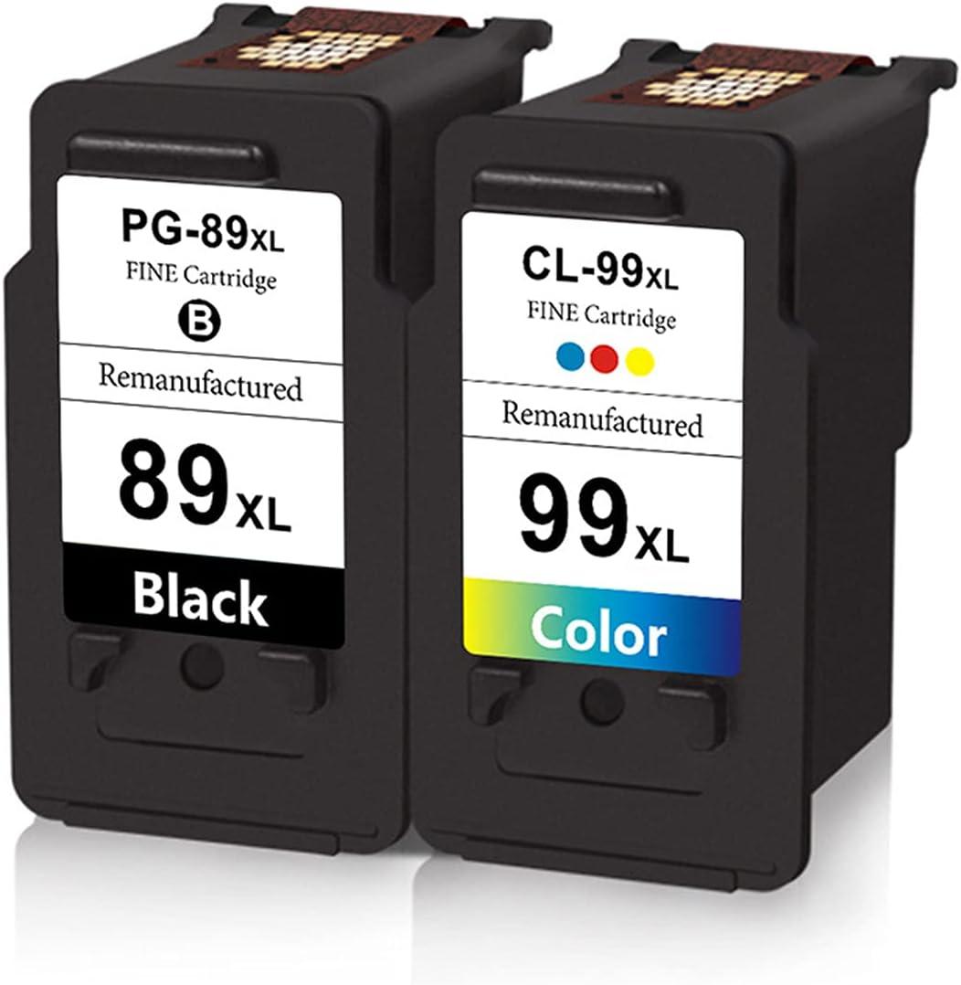 HYYH Compatible for Canon PG89XL 99XL Toner Cartridge Replacement for Canon E560 Printer Drum Unit Laser Photo Conductor Ink Cartridge BK,C,Y,M, Bright Colors Suit