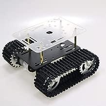 SZDoit Smart RC Metal Robot Tank Car Chassis Compatible with Arduino Raspbery pi NodeMCU Track Crawler Caterpillar Platform with DC 12V Motor Metal Wheel (Black)