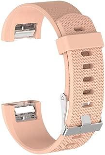 Fitbit CHARGE 2 Uyumlu Markacase LARGE Beden (L Size ) Silikon Kordon (Krem)