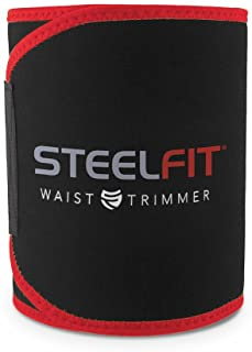 SteelFit Waist Trimmer - Increase Circulation, Sweat More, and Maximum Fat Burning Capabilities - One Adjustable Size - Fo...