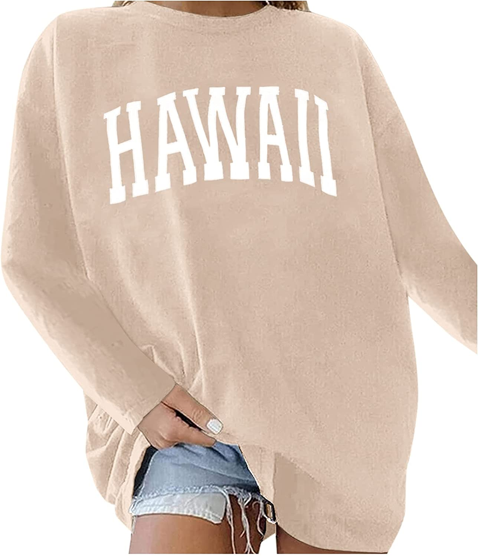 Oversized Sweatshirts For Women, Vintage Casual Crewneck Long Sleeve Pullover Sweatshirts Ladies Graphic Loose Tops