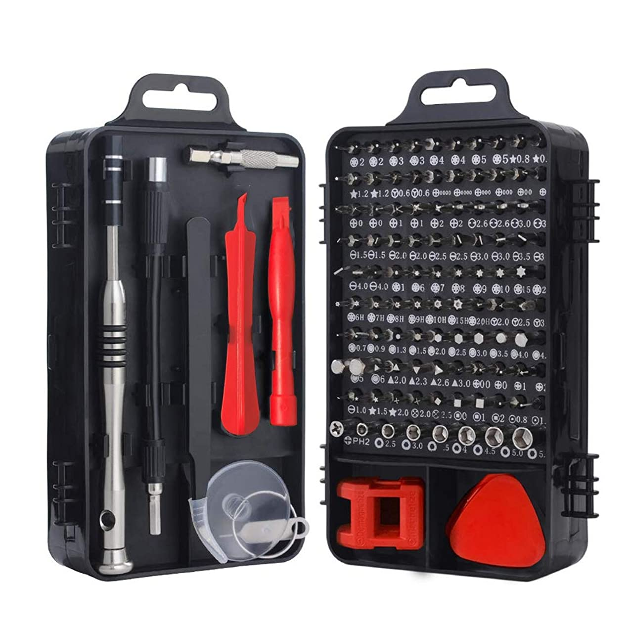 118 in 1 精密ドライバーセット ドライバーキット 磁気修理キット 修理キット iPhone/iPad /ps4/モバイル/ゲーム/タブレット/PC/Mac-bookなどの電子機器用のマルチツールキット