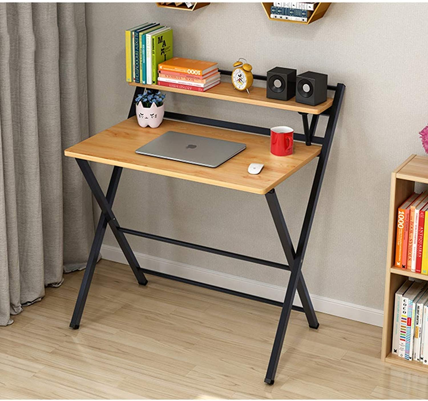 Folding Table, Fashion-Free Inssizetion X-Type Computer Desk, Multifunctional Small Table for Home Office