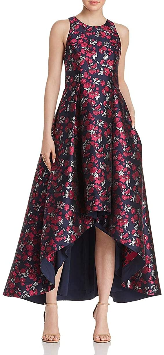 Detroit online shopping Mall Aidan by Mattox Women's Floral High-Low Jacquard G Printed