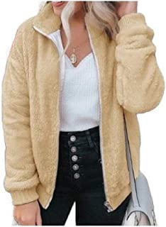 Howely Women Fleece Zip up Outwear Winter Faux Fur Warm Jacket Coat