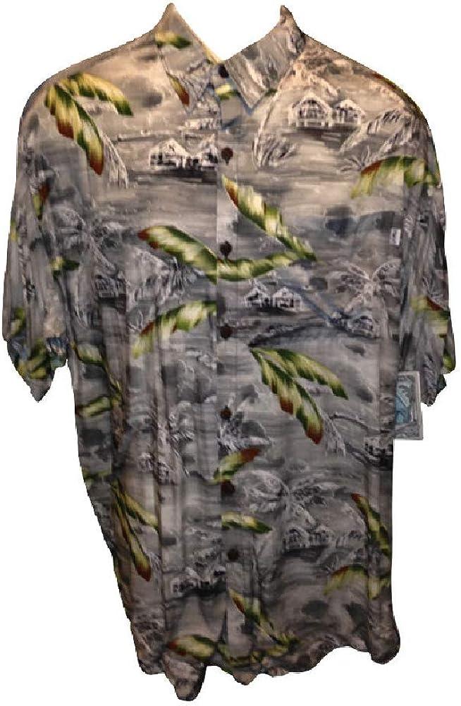Barefoot Paradise Big and Tall USA Made Hawaiian Super Soft Lounging Casual Shirts All Rayon