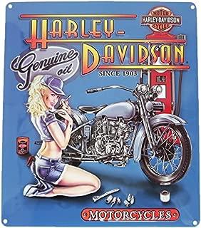 Ande Rooney Harley Davidson Mechanic Babe Tin Sign