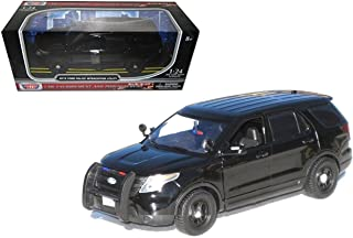 Motor Max New 1:24 W/B American Classics Collection - Plain Black 2015 Ford Police Interceptor Utility Diecast Model Car