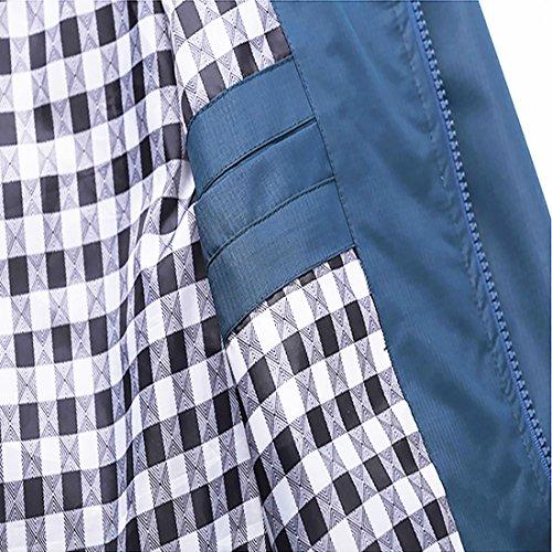 Nantersan Mens Casual Jacket Outdoor Sportswear Windbreaker Lightweight Bomber Jackets and Coats,Large,Jk025 Navy
