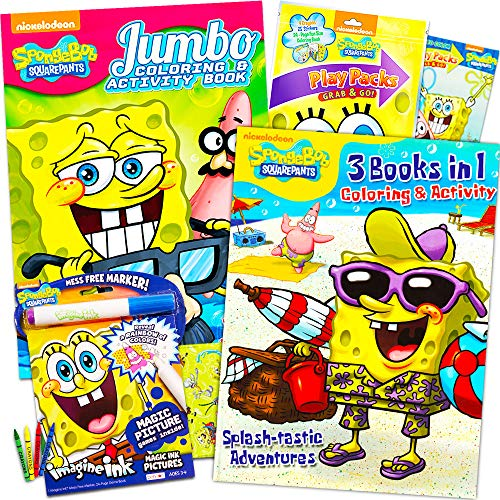 SpongeBob SquarePants Coloring and Activity Book Set with Stickers (3 Books and Play Pack)