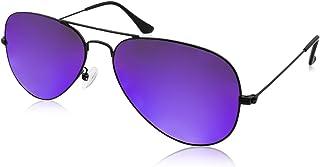 AQS Unisex Oliver Mirrored Aviator Sunglasses