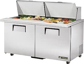 True TSSU-60-24M-B-ST-ADA True TSSU-60-24M-B-ST-ADA Mega-Top Sandwich Prep Table - 24 Sixth-Size Pans, 2 Doors, 4 Shelves, 15.5 Cu. Ft, ADA Compliant