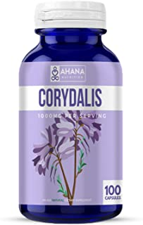 Corydalis Yanhusuo Extract by Ahana Nutrition - Corydalis Capsules to Help with Natural Pain Relief, Mainta...