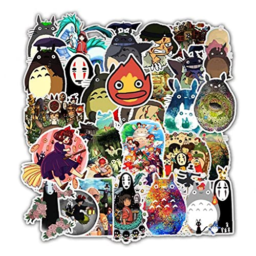 PiniceCore 50pcs Aufkleber Miyazaki Hayao Anime Aufkleber Mein Nachbar Totoro/Temperament Für Skateboard Laptop Wasserdichtes Abziehbilder