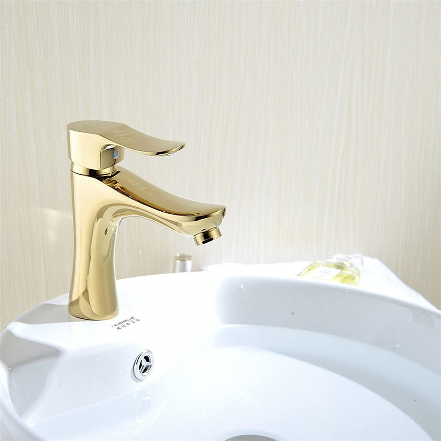 Hlluya Professional Sink Mixer Tap Kitchen Faucet The Brass chrome gold bathroom basin mixer mixing of hot and cold water faucets, gold