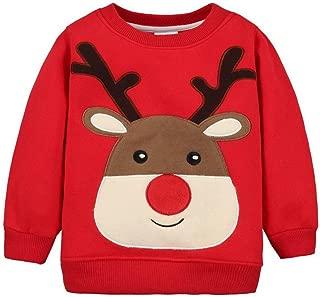 ShangSRS B/éb/é Sweat-Shirts No/ël Pull-Over Enfant /Épais T-Shirt /à Manches Longues Coton Tops