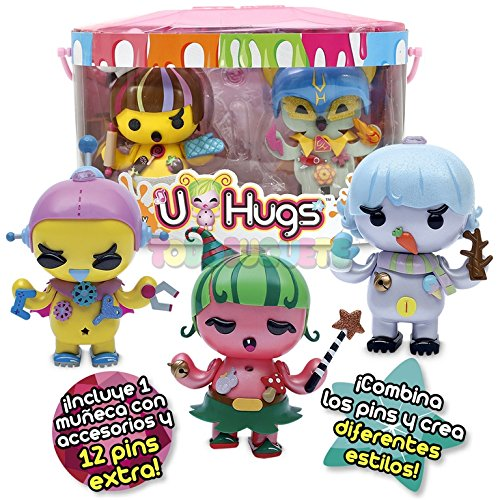 Amazon.es: U Hugs - Pack Especial muñeca con 12 Pins Extra - Flower y Painter: Juguetes y juegos