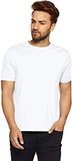 iShoppe Plain Basic T-Shirt for Men | Solid Color | Half Sleeve | Round Neck | 100% Pure Cotton | Made in India