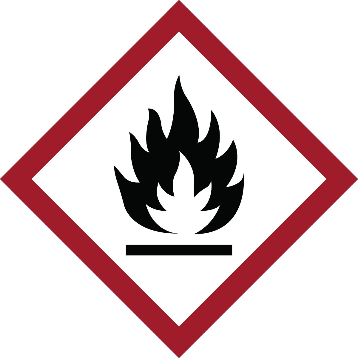 Brady 118823 Vinyl GHS Flammable Picto Labels , Black/Red On Whi