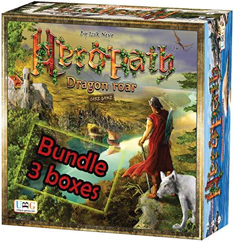 HEROPATH - Dragon Roar Board Game Bundle | Fantasy & Resource Management Tabletop Game | 1-6 Players...