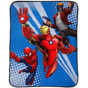Marvel Avengers Blanket Kids Bedding Throw – 46 in. x 60 in.