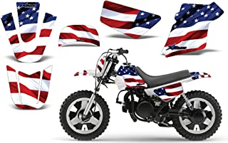 Stars & Stripes-AMRRACING MX Graphics decal kit fits Yamaha PW50 All years-Red-White_Blue