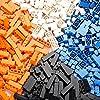 クラシックビルディングブロックおもちゃ| 500クリエイティブパーツ| 4色| 8種類の仕様| 6歳以上の子供に最適 高性能価格比| 主要な国際ブランドとの互換性| 教育玩具 (配色二)