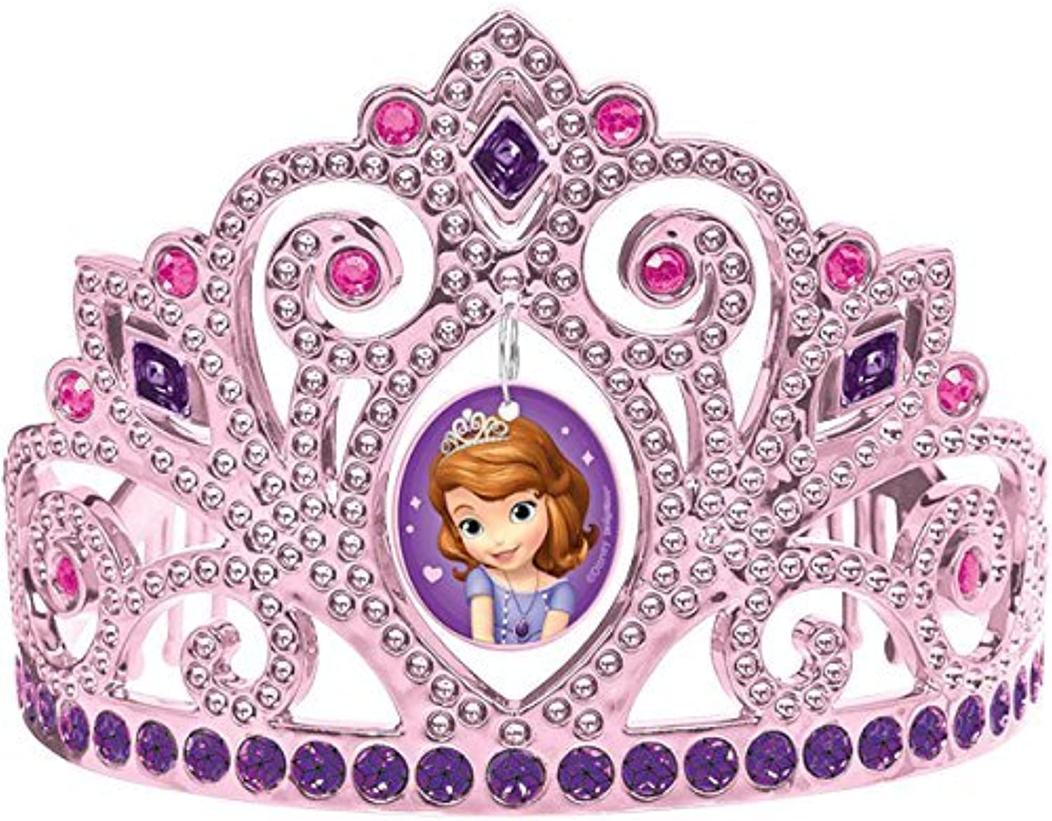 Sofia the First Electroplated Princess Birthday Party Tiara Wearable Favour (3-PACK)
