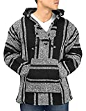 Clever Pro Unisex Mexican Jerga Hoodie - Large, Black