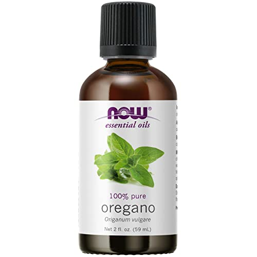 NOW Essential Oils, Oregano Oil, Comforting Aromatherapy Scent, Steam Distilled, 100% Pure, Vegan, Child Resistant Cap, 2-Ounce