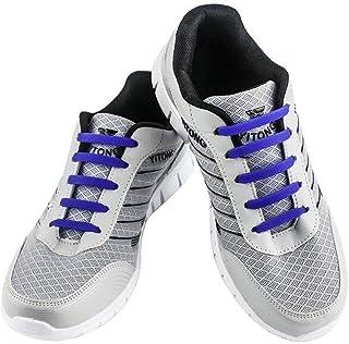 WELKOO® Lacets Elastiques en Silicone Sans Lacage Etanche pour Chaussure Adultes & Enfants -16pcs & 12pcs Couleur Divers D...