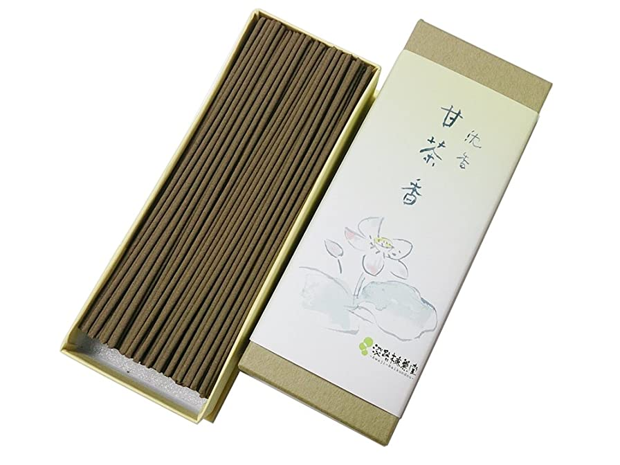 子孫翻訳複製する淡路梅薫堂の高級御線香 沈香甘茶香 50g #26