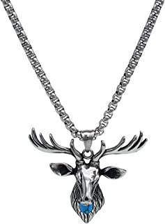 Mens Boys Necklace Chain Pendant Necklace Stainless Steel Men Novelty Generous Silver Black Gothic Skull/Exclusive Animal Titanium Steel Pendant Necklace