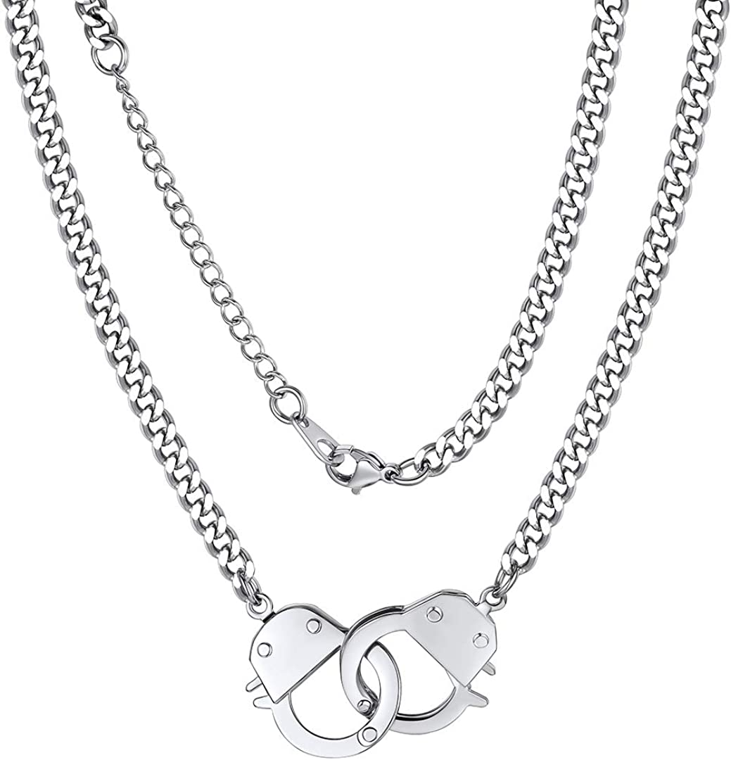 ChainsHouse Handcuff Infinity Interlocking Neck Cheap super special price OFFicial mail order Collar Statement