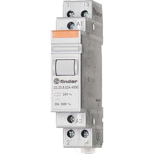 Finder 222380124000PAS Relais modulaire 12 Vac 1 NO + 1 NC 20 A AgSnO2