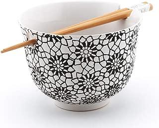 Happy Sales Ramen Udong Noodle Soup Cereal Bowl w/Chopsticks (Arare)