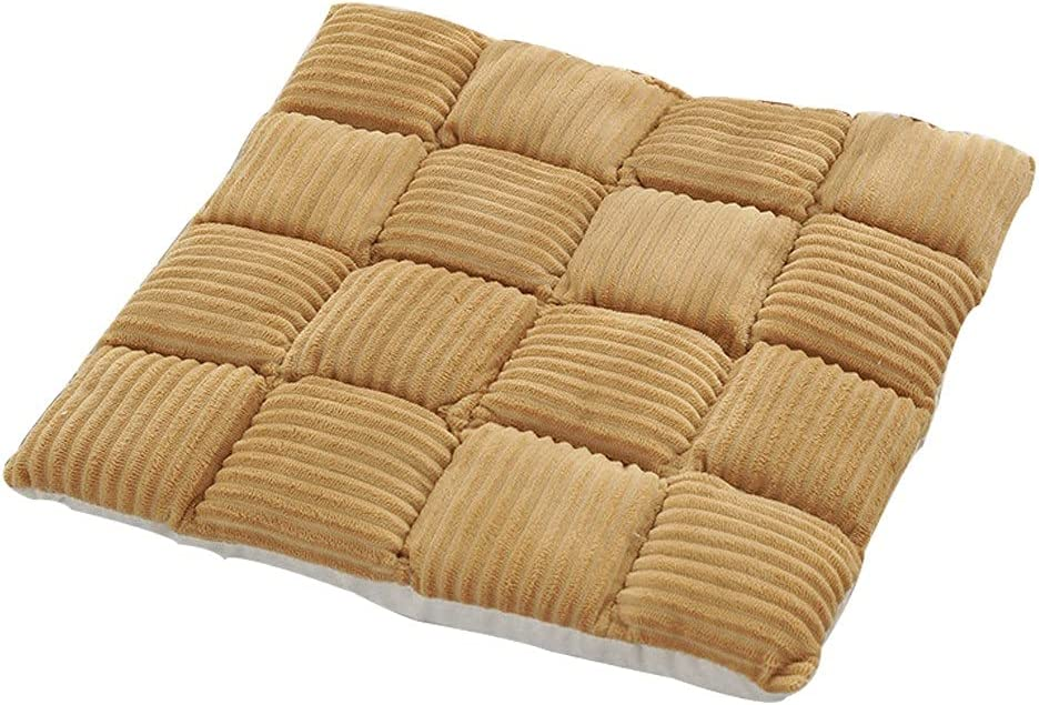AKDD Corduroy Max 47% OFF Chair Pads Square Comfortable Set Chair Cu 4 of Nashville-Davidson Mall