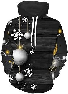 QMKJ Unisex Snowflake 3D Prints Peak Pullover Mens Hoodie Sweatshirt Jumper Jacket with Adjustable Hood and Front Pockets Team Club Couple Hoodies