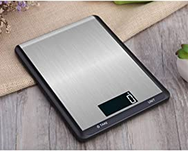 CCJW Precision Waterproof Kitchen Scale/Household Small Food Scale/LCD Digital Display/Four Corner Antiskid (Color : Black, Size : 10kg/1g)