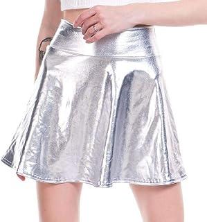 cf8e108903173d SELX Women Ruffle Stylish Nightclub Flowy PU Stitch Dance.