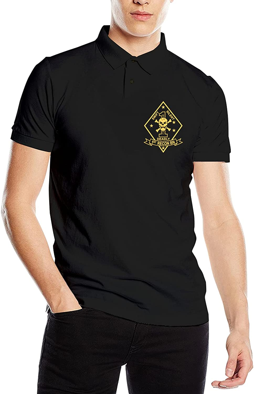 1st Recon Battalion Men's Polo Shirt Summer Top
