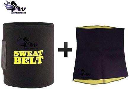 468250295d Ample Wings Digital Duniya Men s and Women s Neotex Sweet Sweat Waist  Trimmer Shapewear (Black