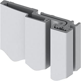 Hager 780-210 Series Aluminum Standard Duty Fire Rated Roton Continuous Geared Hinges, Full Surface, Clear Anodized, 83