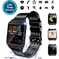 Beaulyn Smart Watch Waterproof, 7 Sport Modes, Fitness Tracker with Heart Rate Monitor Sleep...