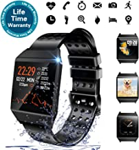 Beaulyn Smart Watch Waterproof, 7 Sport Modes, Fitness Tracker with Heart Rate Monitor Sleep Monitor Calorie Pedometer, Activity Tracker Compatible with iPhone Android Phones for Men Women Kids