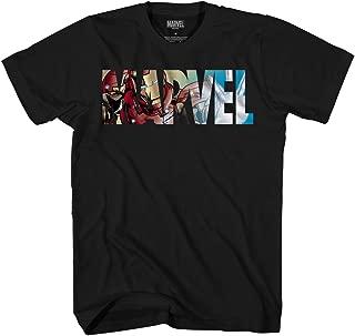 Marvel Logo Ironman Iron Man Avengers Super Hero Adult Graphic Men's T-Shirt